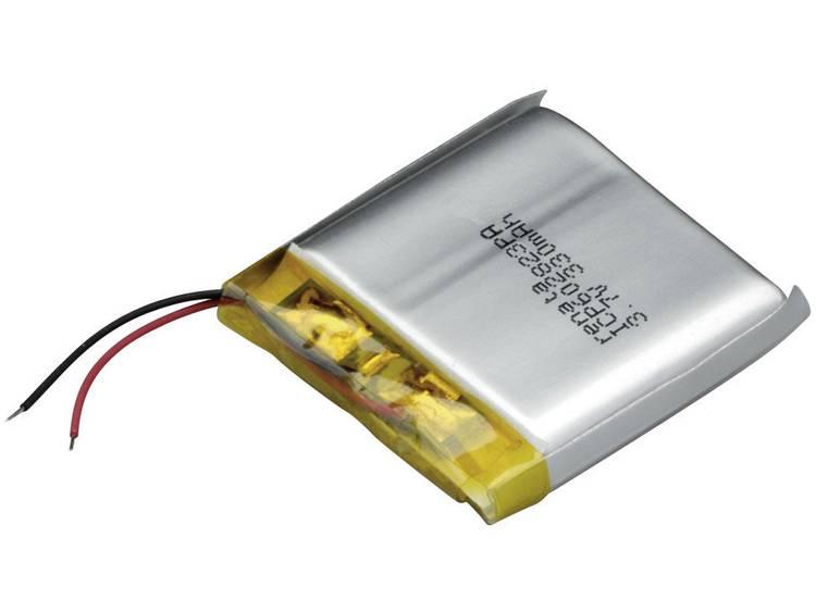 Renata ICP602823PA Speciale oplaadbare batterij Prismatisch Kabel LiPo 3.7 V 350 mAh