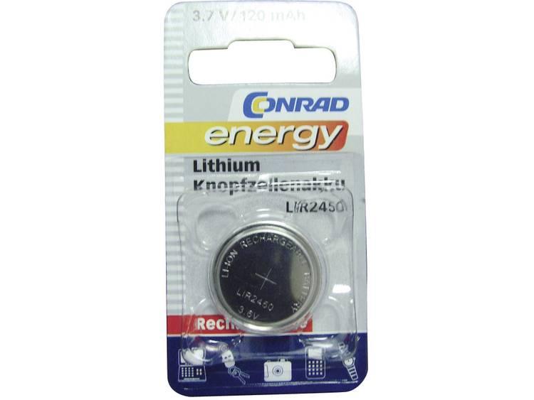 Conrad energy LIR2450 Oplaadbare knoopcel LIR2450 Lithium 120 mAh 3.6 V 1 stuk(s)