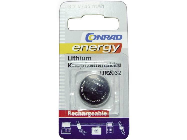 Conrad energy LIR2032 Oplaadbare knoopcel LIR2032 Lithium 45 mAh 3.6 V 1 stuk(s)