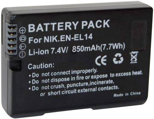 Conrad energy Camera-accu Vervangt originele accu EN-EL14 7.4 V 850 mAh