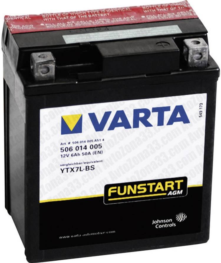 Image of Motoraccu Varta YTX7L-4, YTX7L-BS 12 V 6 Ah ETN 506014005 Geschikt voor model Motorfietsen, Quads, Jetski, Sneeuwscooters
