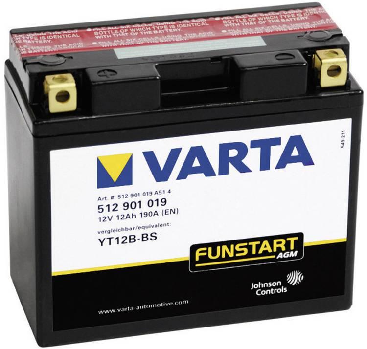 Image of Motoraccu Varta YT12B-4, YT12B-BS 12 V 12 Ah ETN 512901019 Geschikt voor model Motorfietsen, Quads, Jetski, Sneeuwscooters