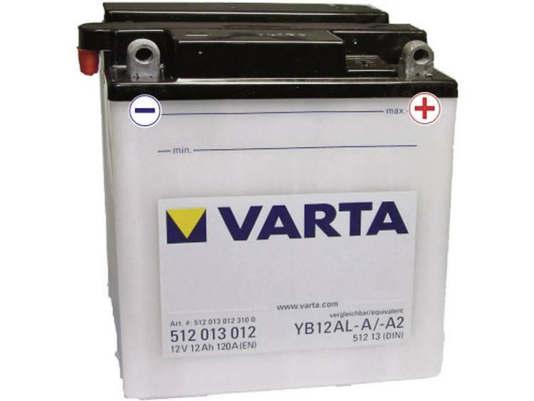Motoraccu Varta YB12AL A, YB12AL A2 12 V 12 Ah ETN 512013012 Geschikt voor Motorfietsen, Scooters, Quads, Jetski, Sneeuwscooters, Zitmaaiers