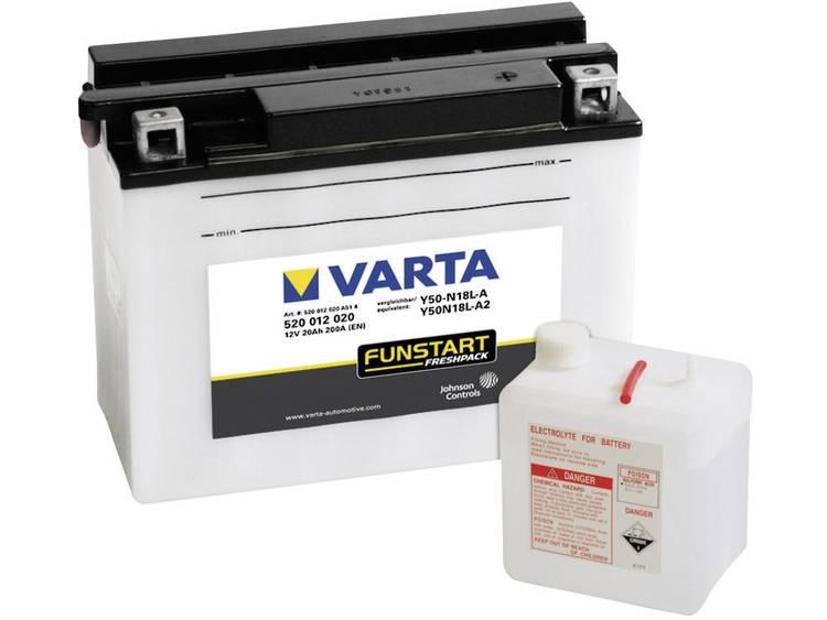 Motoraccu Varta Y50 N18L A, Y50N18L A2 12 V 20 Ah ETN 520012020 Geschikt voor Motorfietsen, Scooters, Quads, Jetski, Sneeuwscooters, Zitmaaiers