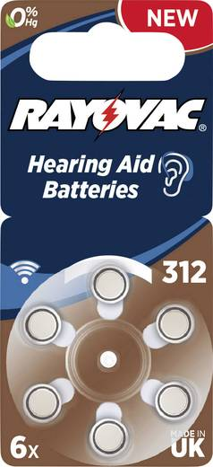 Rayovac Pile pour appareils auditifs PR41 Knoopcel Zink-lucht 180 mAh 1.4 V 6 stuks