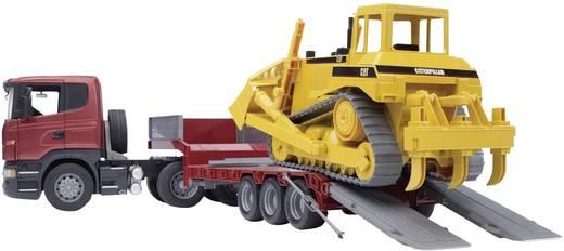 Bruder Scania R-serie vrachtwagen met dieplader en CAT bulldozer 3555
