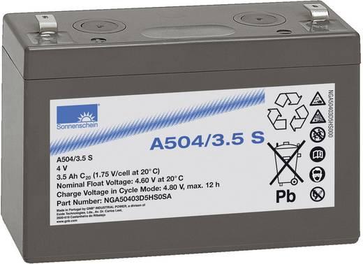 GNB Sonnenschein NGA50403D5HS0SA Loodaccu 4 V 3.5 Ah A504/3,5 S Loodgel (b x h x d) 91 x 65 x 35 mm Kabelschoen 4.8 mm Onderhoudsvrij