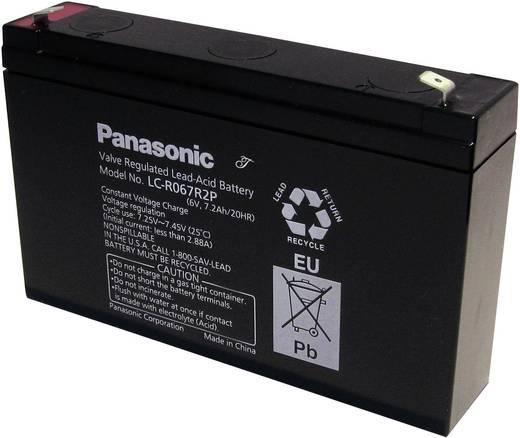 Panasonic LC-R067R2P Loodaccu 6 V 7.2 Ah 6 V 7,2 Ah Loodvlies (AGM) (b x h x d) 151 x 94 x 34 mm Kabelschoen 4.8 mm Onderhoudsvrij