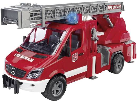 Bruder Mercedes Benz Sprinter Brandweer met draailadder, waterpomp en Light & Sound-module 2532