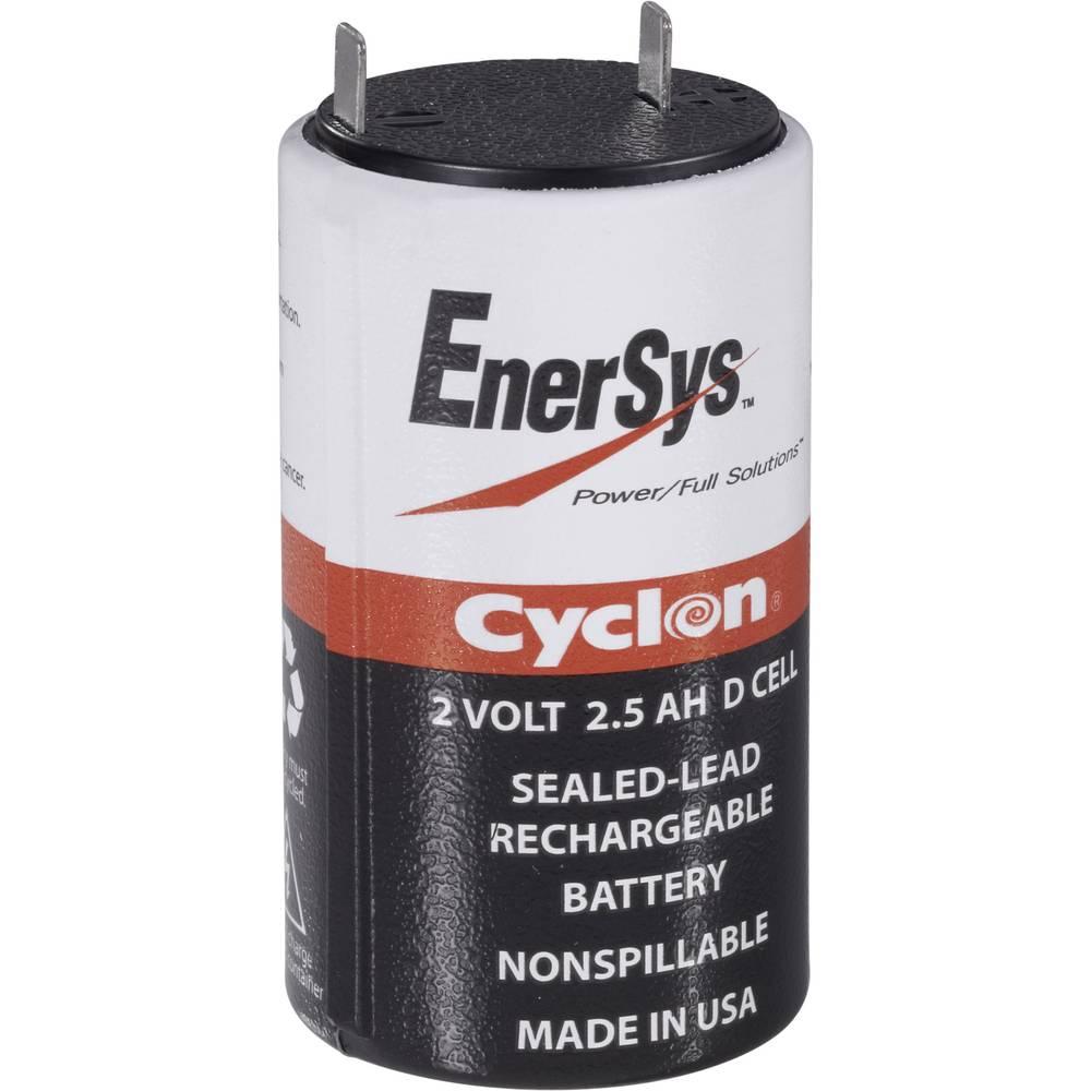 EnerSys Hawker Cyclon X 0800-0004 Blybatteri 2 V 5 Ah Bly AGM (Ø x H) 45 mm x 82 mm Stickkontakt 6.35 mm Underhållsfri, Lindad cell konstruktion,