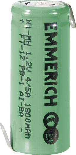 Emmerich 4/5 A ZLF Speciale oplaadbare batterij 4/5 A Z-soldeerlip NiMH 1.2 V 1800 mAh