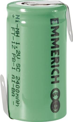 Emmerich SUB C ZLF Speciale oplaadbare batterij Sub-C Z-soldeerlip NiMH 1.2 V 2400 mAh