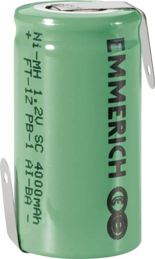 Sub-C Speciale oplaadbare batterij 1.2 V NiMH 4000 mAh Emmerich SUB C ZLF 1 stuks