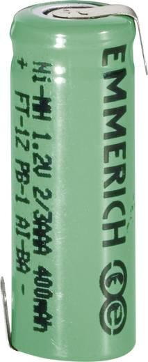 Emmerich 2/3 Micro ZLF Speciale oplaadbare batterij 2/3 AAA Z-soldeerlip NiMH 1.2 V 400 mAh