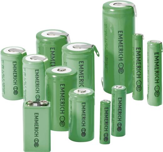 Emmerich SUB C ZLF Speciale oplaadbare batterij Sub-C Z-soldeerlip NiMH 1.2 V 4000 mAh
