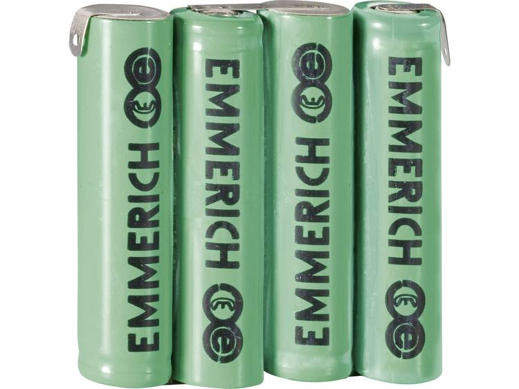 Emmerich 4AAA-ZLF Accupack NiMH 4.8 V 800 mAh AAA (potlood) Z-soldeerlip