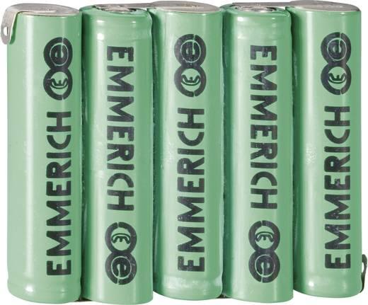 Emmerich 5AAA-ZLF Accupack 5 AAA (potlood) Z-soldeerlip NiMH 6 V 800 mAh