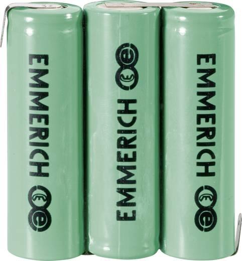 NiMH Accupack 3.6 V 1500 mAh AA (penlite) Z-soldeerlip Emmerich 3AA-ZLF
