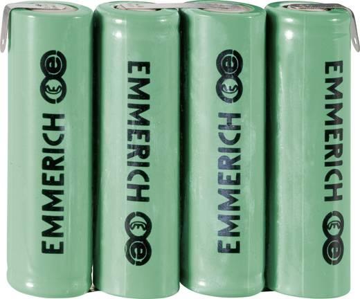 NiMH Accupack 4.8 V 1500 mAh AA (penlite) Z-soldeerlip Emmerich 4AA-ZLF