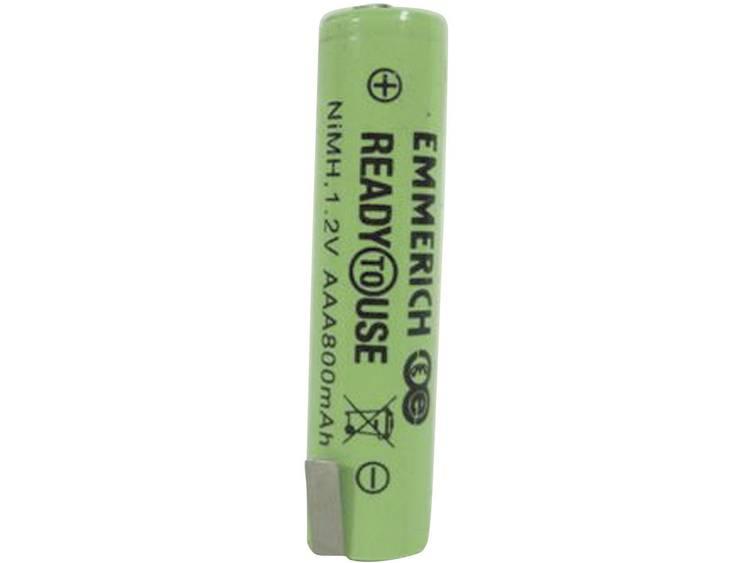 Emmerich ReadyToUse ZLF Speciale oplaadbare batterij AAA (potlood) Z-soldeerlip NiMH 1.2 V 800 mAh