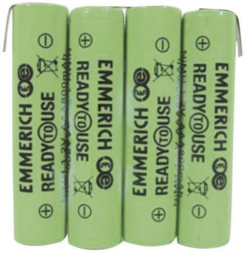 Emmerich ReadyToUse 4AAA-ZLF Accupack 4 AAA (potlood) Z-soldeerlip NiMH 4.8 V 800 mAh