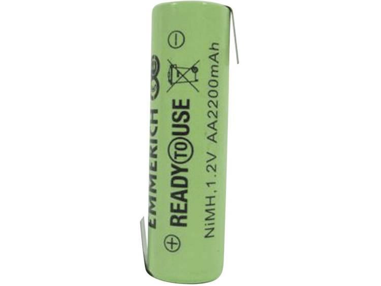 Emmerich ReadyToUse ZLF Speciale oplaadbare batterij AA (penlite) Z-soldeerlip NiMH 1.2 V 2200 mAh