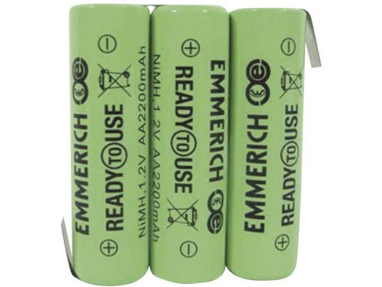 Emmerich ReadyToUse 3AA-ZLF Accupack NiMH 3.6 V 2200 mAh AA (penlite) Z-soldeerlip