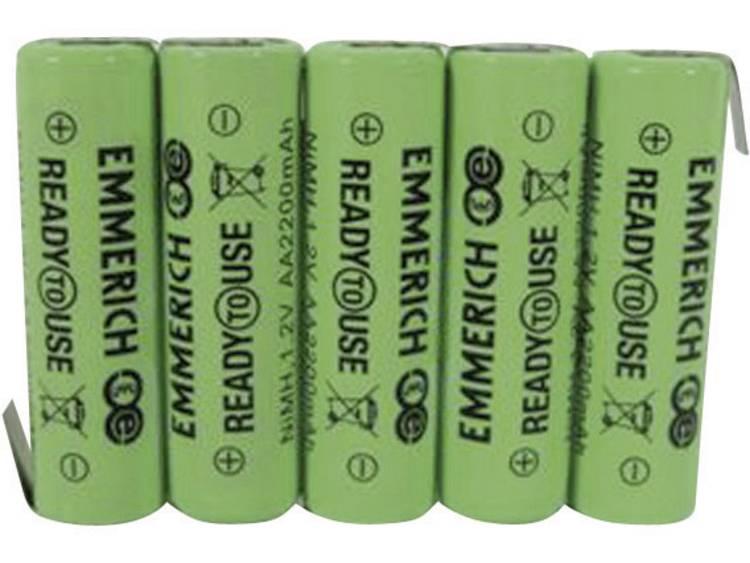 Emmerich ReadyToUse 5AA-ZLF Accupack NiMH 6 V 2200 mAh AA (penlite) Z-soldeerlip