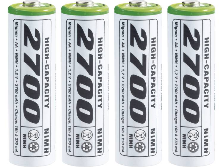 Emmerich High-Capacity HR06 Oplaadbare AA batterij (penlite) NiMH 2700 mAh 1.2 V 4 stuk(s)