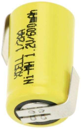 XCell X1/2AA600-LF Speciale oplaadbare batterij 1/2 AA Z-soldeerlip NiMH 1.2 V 600 mAh