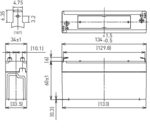 Loodaccu 6 V 3.4 Ah Panasonic LC-R063R4P Loodvlies (AGM)