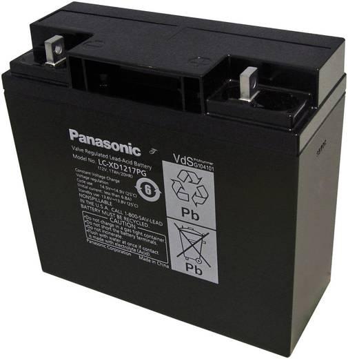 Panasonic LC-XD1217PG Loodaccu 12 V 17 Ah LCR-12V17CP Loodvlies (AGM) (b x h x d) 181 x 167 x 76 mm M5-schroefaansluitin