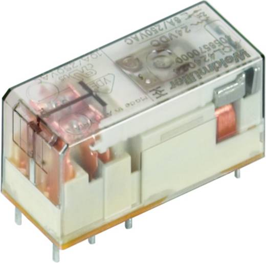 Weidmüller RCL424524 Steekrelais 24 V/AC 8 A 2x wisselaar 20 stuks