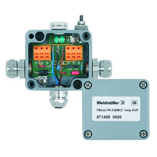 Standaardverdeler met overspanningsbeveiliging FBCON PA CG/M12 1WAY OVP We