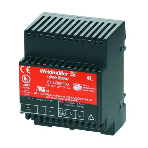 Weidmüller CP SNT 25W 5V 5A Din-rail netvoeding 5 V/DC 5 A 25 W 1 x
