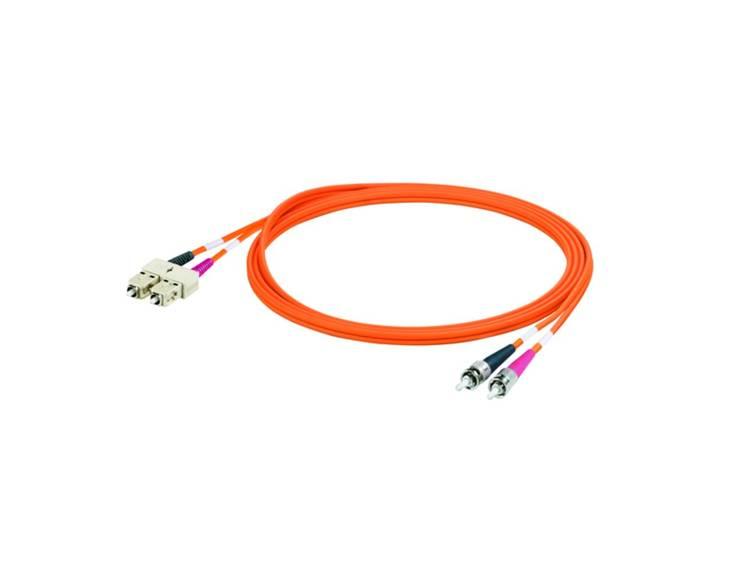 Kabel Weidmüller Glasvezel [1x SC-stekker - 1x ST-stekker] 62,5/125µ 2 m