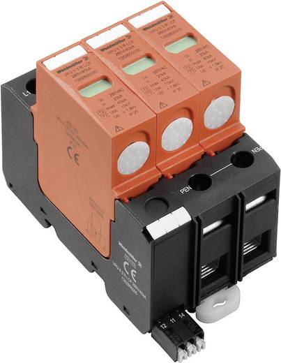 Weidmüller VPU II 3 R LCF 280V/40kA 1352800000 Overspanningsafleider Overspanningsbeveiliging voor: Verdeelkast 20 kA