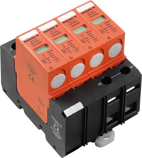 Weidmüller VPU II 4 150V/40kA 1352540000 Overspanningsafleider Overspanningsbeveiliging voor: Verdeelkast 20 kA