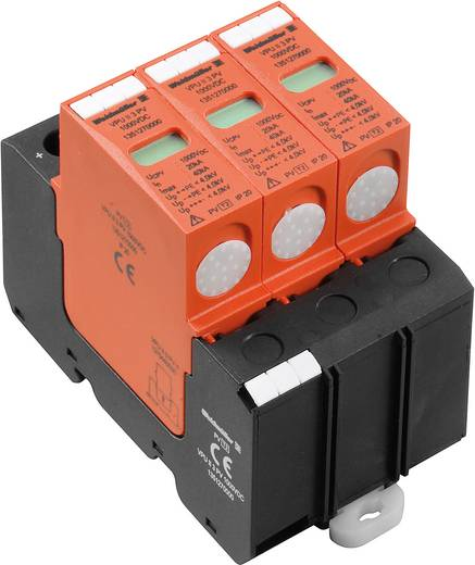 Weidmüller VPU II 3 PV 1000VDC 1351270000 Overspanningsafleider Overspanningsbeveiliging voor: Verdeelkast 20 kA