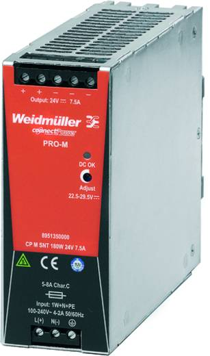 Weidmüller CP M SNT 180W 24V 7,5A Din-rail netvoeding 24 V/DC 7.5 A 180 W 1 x