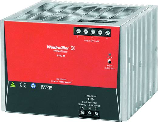 Weidmüller CP M SNT 1000W 24V 40A Din-rail netvoeding 24 V/DC 40 A 1000 W 1 x