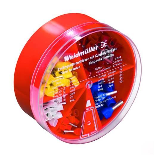 Weidmüller 9025390000 Dubbel-adereindhulzen-assortiment 0.50 mm² 2.50 mm² Oranje, Wit, Geel, Rood, Blauw 220 stuks