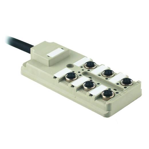 Passieve sensor-/actuatorverdeler SAI-6-F 4P PUR 10M Weidm