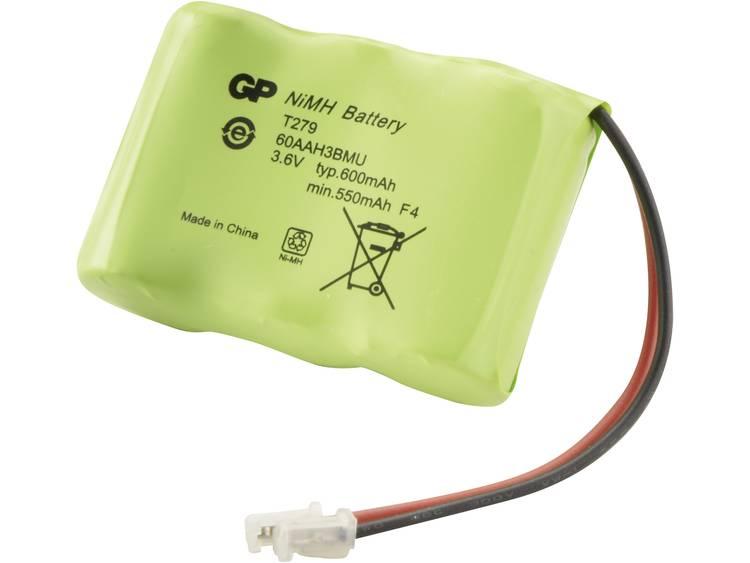 Accu voor draadloze telefoon GP Batteries T279 Geschikt voor merk: Alcatel, AT&T, Emerson, Panasonic, Sanyo, Sony NiMH 3.6 V 600 mAh