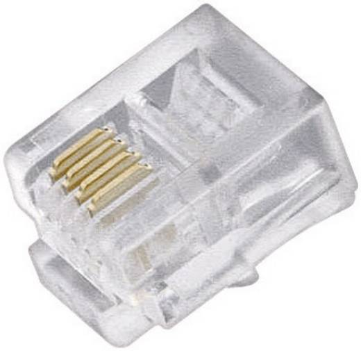 Western-stekker Stekker, recht Aantal polen: 4P4C 71084 Transparant 71084 5 stuks
