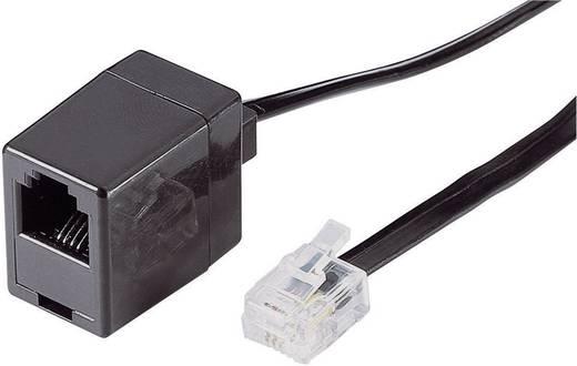 Telefoon Verlengkabel [1x RJ-stekker 6p4c - 1x RJ11-bus 6p4c] 6 m Zwart