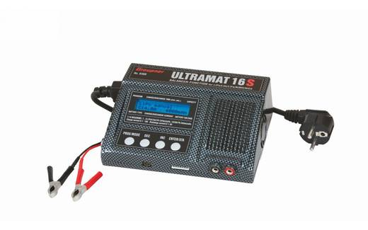 Graupner Ultramat 16S Modelbouw multifunctionele lader 12 V, 220 V 15 A Lood, LiFePO, Li-ion, Li-poly, NiCd, NiMH