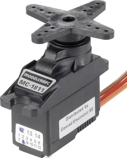 Modelcraft Mini-servo MC1811 Analoge servo Materiaal (aandrijving): Kunststof Stekkersysteem: JR