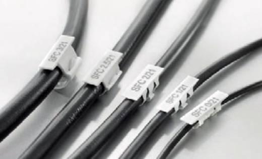 Kabelmarkering Montagemethode: Vastklemmen Markeringsvlak: 30 x 5.80 mm Geschikt voor serie Enkele aders Wit Weidmüller