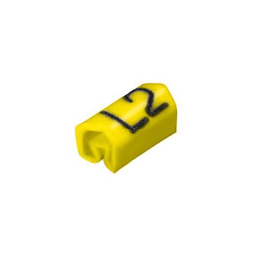 Leidingmarkeerder CLI C 02-6 ge/zw L2 MP Weidmüller Inhoud: 200 stuks